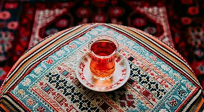 clear Turkish tea glass